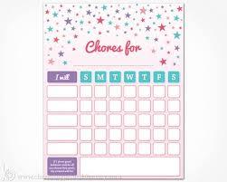 My Reward Board Chore Chart Printable For Kids Instant Download Girls Weekly Chore Board Card Children Toddler Reward Chart