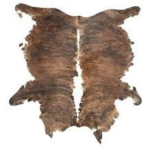 brown and white cowhide rug image 0 faux