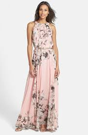 Free Shipping And Returns On Eliza J Belted Chiffon Maxi Dress