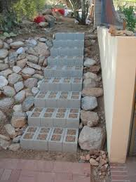 Cinder block stairs are a cheaper way of getting a path up to the second  level of your yard. These steps make it easy to move to and from the house  without ...