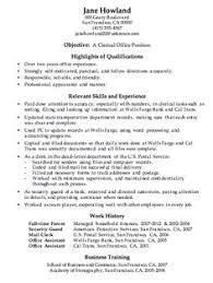 Admi Art Galleries In Administrative Clerical Resume Samples
