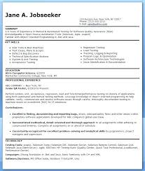 Qa Tester Resume With 5 Years Experience Resume For Software Testing