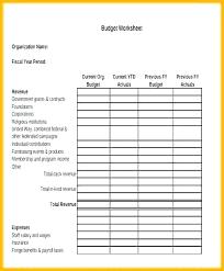 Nonprofit Budgeting Organization Budget Template Organisational Budgeting