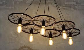 industrial chandelier lighting. discount pendant lamps chandelier led light loft industrial corridor cafe bar lamp three nordic creative iron wheel retro lighting r