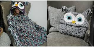 Hooded Owl Blanket Pattern