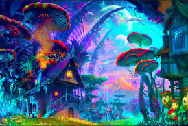 Art Design Renovation Contractor Us 4 37 19 Off Diy Frame Psychedel Trippy Art Posters And Print Home Decor Silk Fabric 12