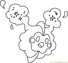 Small Picture Cosmog Pokemon Sun and Moon Coloring Page Free Pokmon Sun and