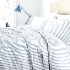 ticking stripe duvet cover blue king full size
