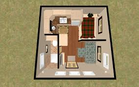 Small Picture 3D top view of the 196 sq ft 3 Bed Chatterbox Micro Homes under
