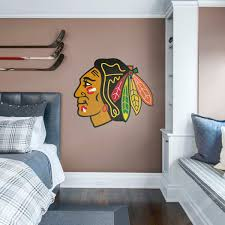 chicago blackhawks logo giant officially licensed nhl removable wall decal fathead
