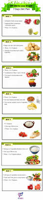 Gm Diet 7days Weight Loss Infographic Diet And Exercise