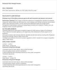 resume for restaurants restaurant resume 10 free word pdf documents download free