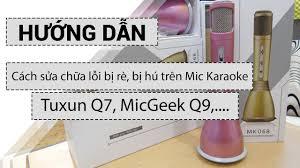 Hướng dẫn cách chỉnh âm thanh mic hát karaoke kiêm loa phát bluetooth khi bị  rè hoặc hú. - YouTube