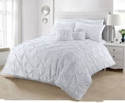 details about pintuck white room duvet cover set bedding set single double king super king