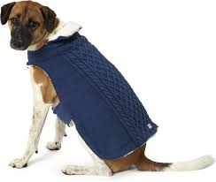 Petrageous Designs Dog Sweater Petrageous Designs Carles Cable Knitted Dog Sweater Jacket Large Navy