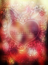 Vector Valentines Day Background Stock Vector Colourbox