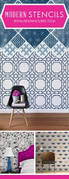 Modern Wall Stencils with Fresh, Funky, Trendy, Geometric Patterns Painted  onto DIY Home