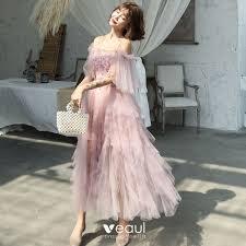 Affordable Blushing Pink <b>Summer</b> Prom <b>Dresses 2019</b> A-Line ...