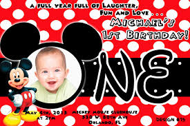 Mickey Mouse Clubhouse 2nd Birthday Invitations Mickey Mouse 1st Birthday Invitations 650 433 Mickey Mouse