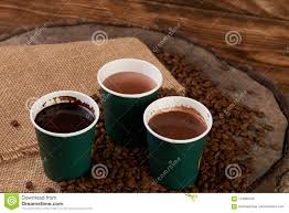 coffee cups with coffee beans. Perfect Coffee Three Green Paper Coffee Cups With Beans Inside Coffee Cups With Beans T