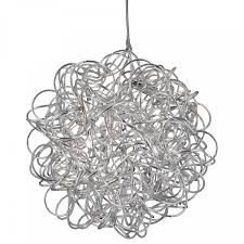 the organised chaos of the tangled aluminium looks fabulous and draws the eye from any corner of the room and the six miniature light fittings le