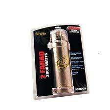 stinger car audio capacitors sound quest by stinger sqcap2m capacitor 2 farad 2000w power amp digital display