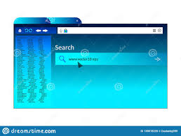 Browser Home Page With Bookmarks And Search Engine Stock