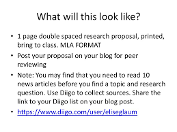 Mla Research Proposal Research Proposal Due Thursday Purpose To Give Your Professor