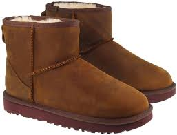 ugg boots womens classic mini ii leather chestnut image