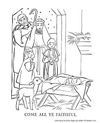 Small Picture The Christmas Story Coloring Pages Come All Ye Faithful