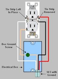installing replacing an electrical receptacle part 2 duplex wall receptacle where the upper and lower sockets are wired to separate breakers