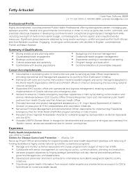 Resume Templates: Public Health Advisor