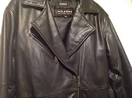 wilsons leather belted moto jacket coat with removable insulation small
