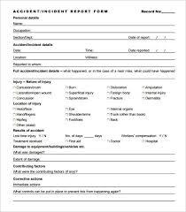 Accident Incident Report Format Nurufunicaasl Threeroses Us