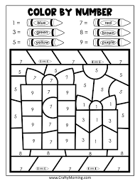 Free download & print free printable christmas math worksheets: Christmas Color By Number Printables Crafty Morning