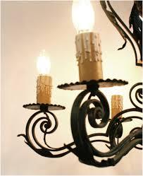 spanish wrought iron chandelier