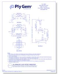 Ply Gem Window Size Chart Ply Gem Openings Cad Drawings Caddetails Com