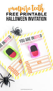 Free Printable Vampire Halloween Invitation Printable Crush