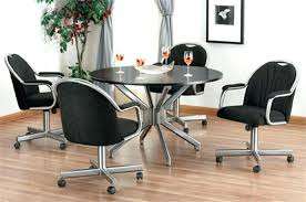caster dining chair room chairs with casters brilliant rolling within 7