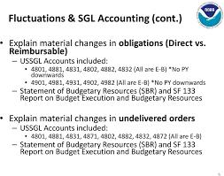 Ussgl Chart Of Accounts Financial Reporting Fluctuation Flux Analysis Pdf Free