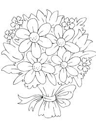 Coloring Page Of Flowers For Preschoolers Floral Coloring Pages