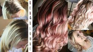 Red Blonde Foils Hair Color Tutorial