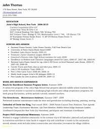 High School Resume For College Application Sample Inspirational 12