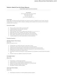 Nursing Skills Resume Interesting Nurse Practitioner Resume Template Pediatric Sample Entry Level