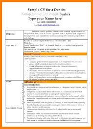 Sample Dentist Resume Dental Resumes For Dentist Medical Resume Occupational Samples Cv 60 57