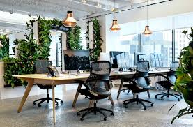 modern office design layout. the openplan layout is made more intimate by details like living walls image tom dixon modern office design e