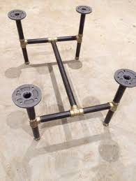 black iron furniture. Black Steel Threaded Pipe Table Legs Gives A Great Industrial Look To Any Top Iron Furniture