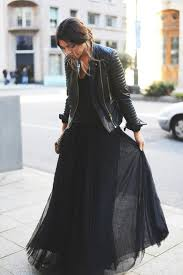 dress black leather jacket skirt long skirt tulle skirt jacket top black dress jacket cuir fashion