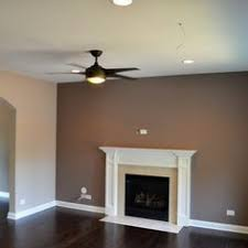 living room paint ideas with accent wallplum walls  Accent wall in plum color Venetian plaster  House