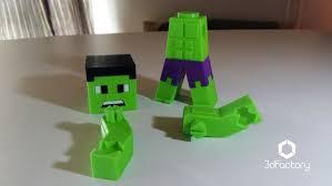 Minecraft Pictures To Print 3d Printed Hulk Minecraft Minecraft Parts 3dfactory Brasil By